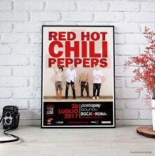 Red Hot Chili Peppers - Fine Art Poster Tour, Locandina Roma Milano 20/21 Luglio