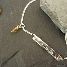 Babyarmband, Kinderarmband, 925 Silber ID Armband + Monatsfarbe Glasperle, GA-21