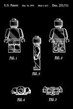 1979 - Lego Toy Figure 2 - G. K. Christiansen - Patent Art Poster