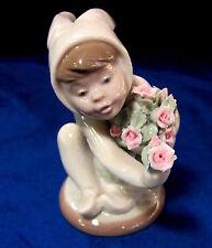 New Lladro #1506 A New Friend Brand Nib Bunny Flower Rose $150 Off Free Shipping