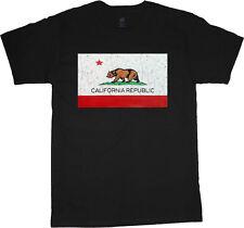 Big and tall shirts for men California flag decal tee shirt cali bear design