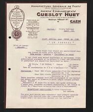 """CAEN (14) USINE de FILETS de CHASSE / SELLERIE / SPORTS / JEUX """"GUESLOT - HUET"""""""