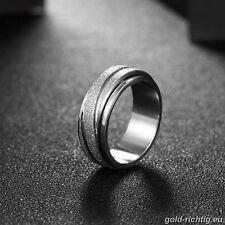 Acero inoxidable señora giratoria anillo spinnerring señora anillo Spinner anillo plata regalo