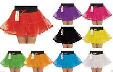 Le ragazze 4 Livello Neon Tutù Sottoveste Sotto Gonna Scuola Danza Costume Festa 5-10