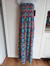 NEW Love Fire Maxi Dress Size Medium Bright Colors Strapless