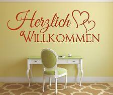 X415 Wandtattoo Spruch / Herzlich Willkommen Welcome Flur Sticker Aufkleber