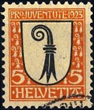 SVIZZERA - 1923 - Pro Juventute. Stemmi cantonali e nazionali - 5 cent.