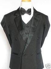 INFANT,TODDLER & BOY  WEDDING FORMAL PARTY No Tail Tuxedo SUIT BLACK S M L -6,7