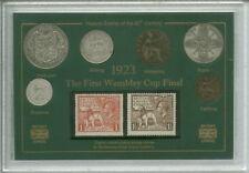 Il primo Wembley FA Cup Final Bolton Wanderers vincitori MEDAGLIA TIMBRO Gift Set 1923