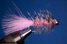 Fliegentom Streamer 3 pieces Wooleybugger with Beadhead Pink Krystal