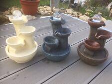 Zimmerbrunnen POT rund mit beleuchteter Kugel - 3 Brunnenfarben zur Auswahl