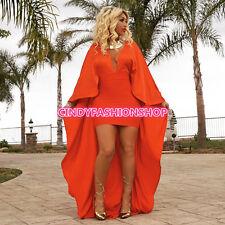 Cindy Fashion Elegant Woman Bandage Cloak Sleeve Maxi Long Dress Club Prom Dress