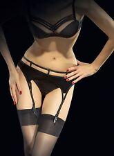 VISION garter belt by Fiore classic plain suspender belt: S, M, L, XL plus size