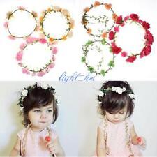 Handmade Baby Flowers Garland Crown Wreath Wedding Girl Headband Hairband Tiara