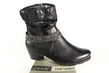 Jana Damen Stiefel, Stiefeletten, Boots Winterstiefel Leder schwarz 25335  NEU