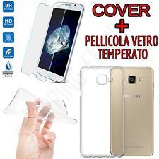 COVER CUSTODIA TPU +PELLICOLA in VETRO TEMPERATO per Samsung Galaxy A3 2017 A320