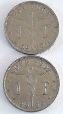 Bon pour 1 Franc Belgique Goed voor 1 Frank Belgïe 1922 -1934 Bonnetain Albert I