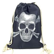 """NEU Turnbeutel """"PIRAT"""" Skull Totenkopf Gym Bag Tasche Beutel"""