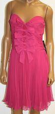 La Coquette Fuchsia Fuschia PINK Dress size 12 Pleated strapless MSRP 218 NWTS