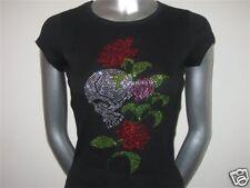 Rhinestone Skull and Roses