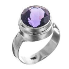 Big Purple Amethyst 925 Sterling Silver Ring