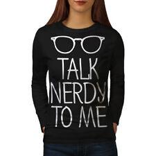 Talk Nerdy To Me Women Long Sleeve T-shirt NEW | Wellcoda