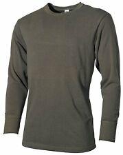 BW Camiseta interior Ejército Manga Larga Hombre Oliva ropa Algodón