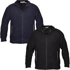 Mens Jackets Polar Fleece Lined Hand Pocket Full Zip Winter Jumper Jacket Top UK