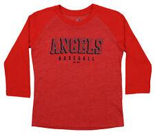 Majestic MLB Youth Los Angeles Angels Baseball Academy 3 4 Sleeve Raglan Tee cf684360e