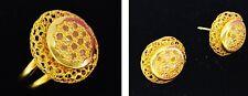 SET PARURE BOUCLES OREILLES BAGUE FEMME OR BLANC 18k DIAMANTS GOLD EARRINGS RING