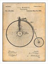 1881 Velocipede Bike 2 Patent Print Art Drawing Poster 18X24