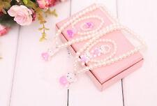 Dress Decor Children Girl Princess Beads Necklace&Bracelet&Ring Set Jewelry Gift