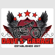 Custom Personalised Motor Bike Club Sign Wall Plaque Cafe Racer Bobber