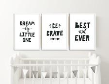 Monocromatico Nursery stampe/Baby Room Decor/foto per camera da letto per bambini
