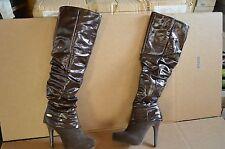 Dereon Women's Hide & Seek Brown Over the Knee Boots