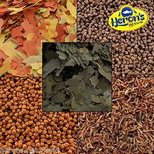 HERONS PREMIUM GOLDFISH KOI FOOD Flakes, Pellets, Spirulina, Bloodworm Larvae