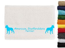 American Staffordshire Terrier Hundemotiv Handtuch Hundehandtuch Hunde mit Namen
