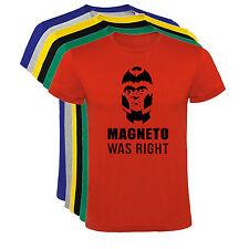 Camiseta Magneto Was Right Hombre varias tallas y colores