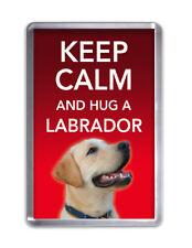 Keep Calm and Hug a GOLDEN LABRADOR-Dog Fridge Magnet Pet Animal Novelty Gift