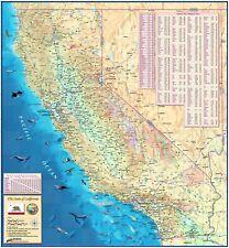 Decorative California State Wall Map (3 Sizes) Laminated