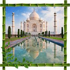 Adesivo Cornice Bambù Taj Mahal 7196
