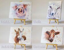 Sheep Grazing Sunset Field Canvas Art Print #008661