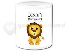 Personalised Ceramic Money Box- Lion Cub Design