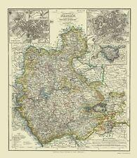 Old Germany Map - Frankfurt, Wiesbaden - 1860 - 23 x 26
