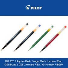 Pilot G2 Alpha Gel B2P recharge stylo encre gel bleu noir rouge vert