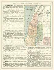 International Map - Palestine - Monteith 1882 - 23 x 29.53