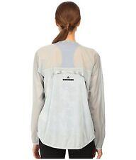 adidas by Stella McCartney Women's Cycling Jacket S14660 Gray Soft Nylon~Sz M, L