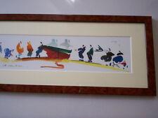 Art breton port tableau bigouden aquarelle Ch. Cambier