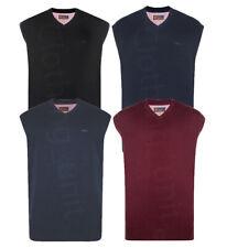 Mens KAM Plain V Neck Sleeveless Sweater Jumper Tank Top Big Size Casual 2XL-6XL