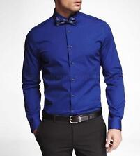 Express Men 1MX Limited Edition Fitted Dress Shirt Jewel Blue Medium